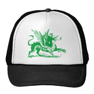 Dragon Engraving - Grass Green Trucker Hat