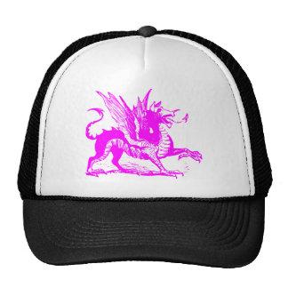 Dragon Engraving - Magenta Trucker Hat