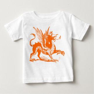 Dragon Engraving - Orange Baby T-Shirt