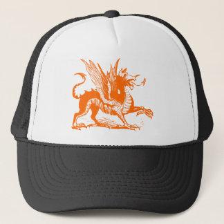 Dragon Engraving - Orange Trucker Hat