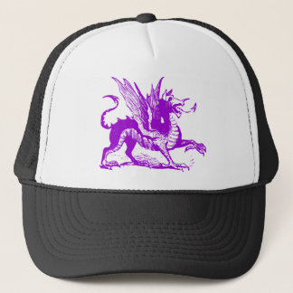 Dragon Engraving - Purple Trucker Hat