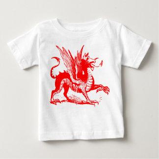 Dragon Engraving - Red Baby T-Shirt