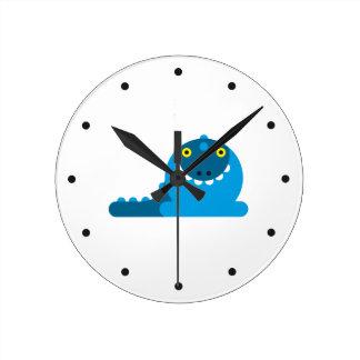 Dragón enojado azul relojes