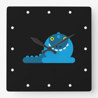 Dragón enojado azul relojes de pared