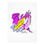 Dragón enojado del fuego invitación