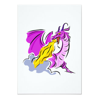 """Dragón enojado del fuego invitación 5"""" x 7"""""""