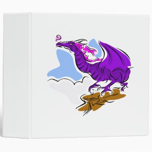"""Dragón enojado púrpura carpeta 2"""""""