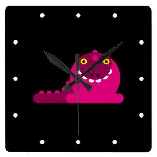 Dragón enojado rosado relojes