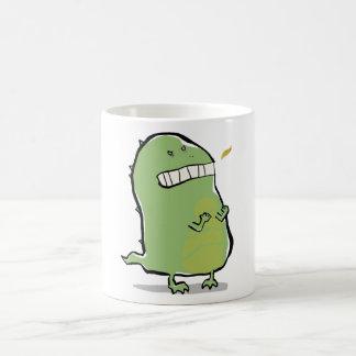 dragón enojado taza básica blanca