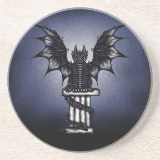 Dragón épico oscuro posavasos personalizados