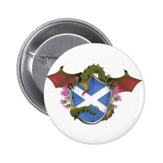 Dragón escocés pin redondo de 2 pulgadas