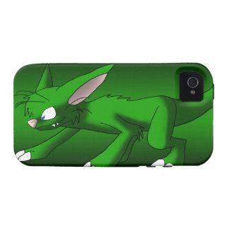Dragón esmeralda del gato vibe iPhone 4 funda