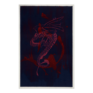 Dragón espiral póster