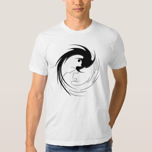Dragón espiral Yin-Yang Playera