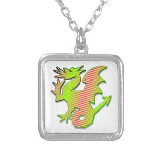 Dragón estilizado colgante cuadrado