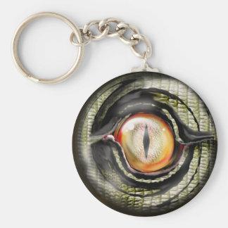 dragon eye basic round button keychain