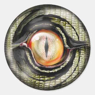 dragon eye classic round sticker