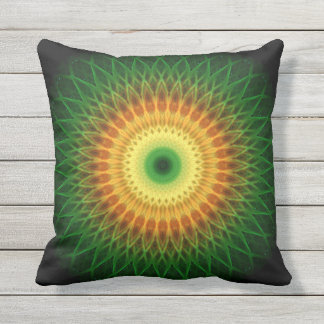 Dragon Eye Mandala Outdoor Pillow