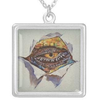 Dragon Eye Square Pendant Necklace