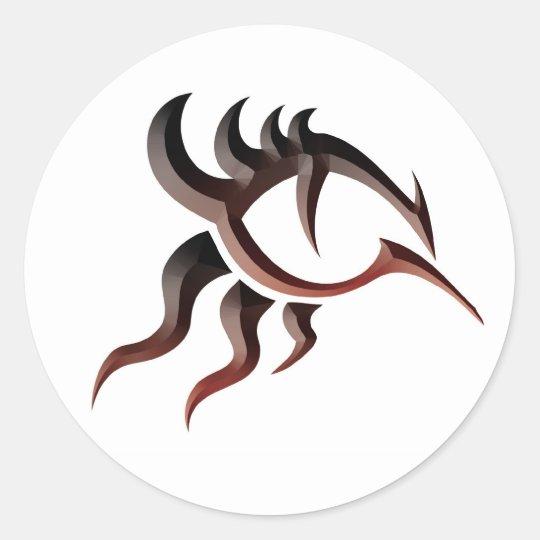 Dragon Eye Tat Classic Round Sticker
