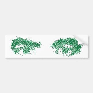 Dragon Eyes in green Bumper Sticker