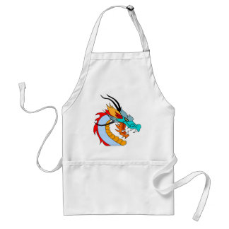 Dragon Face Drawing Adult Apron