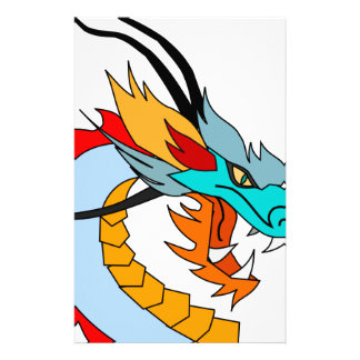 Dragon Face Drawing Stationery