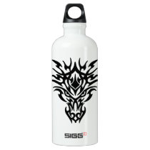 Dragon Face Tattoo Aluminum Water Bottle