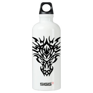 Dragon Face Tattoo Aluminum Water Bottle