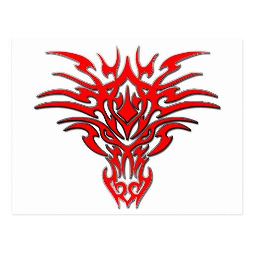 Dragon Face Tattoo C Postcard