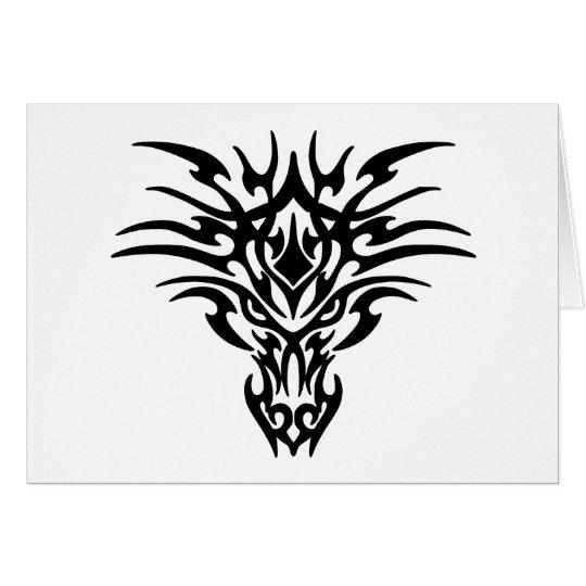Dragon Face Tattoo Card