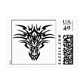 Dragon Face Tattoo Postage