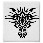 Dragon Face Tattoo Poster