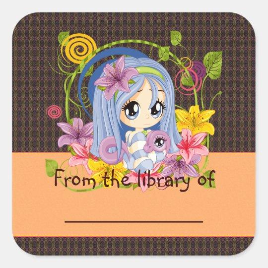 Dragon Fae Square Sticker