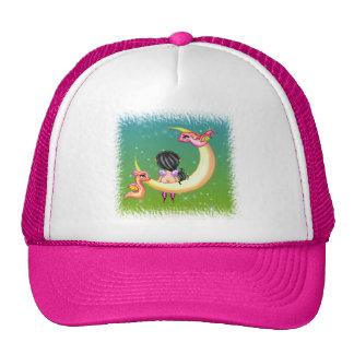 Dragon Faery Moon Pixel Art Trucker Hat