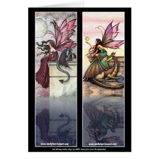 Dragon Fairy Bookmark Cards by Molly Harrison