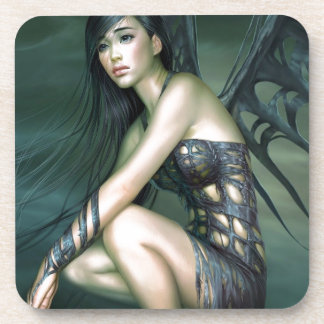 dragon fairy drink coaster