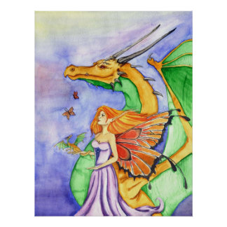 Dragon Fairy Godmother Poster