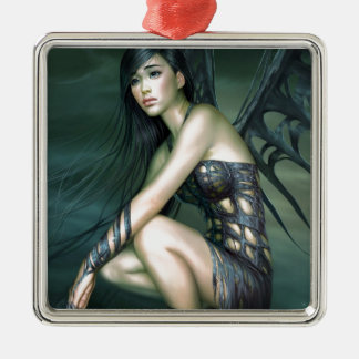 dragon fairy metal ornament