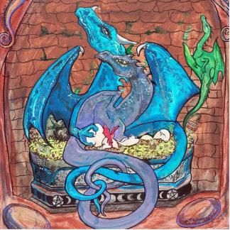 Dragon Family Cutout