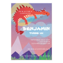 Dragon Fantasy Birthday Party Invitation