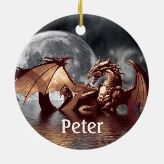 Dragon Fantasy Tree Ornament / Door Tag for Peter