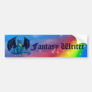Dragon Fantasy Writer Bumper Sticker