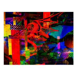 Dragon Fantsy Collage100_2751 Postcard