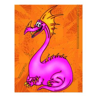 """Dragón feliz folleto 8.5"""" x 11"""""""