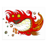 Dragón feliz postales