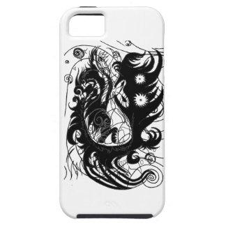Dragón feliz (silueta) funda para iPhone SE/5/5s