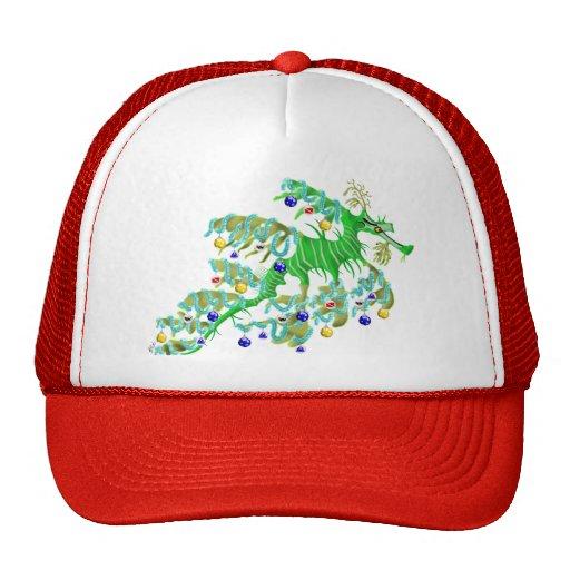 Dragón festivo del mar gorra