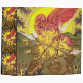 Dragon Fight - Five of Wands Tarot Posters 3 Ring Binder