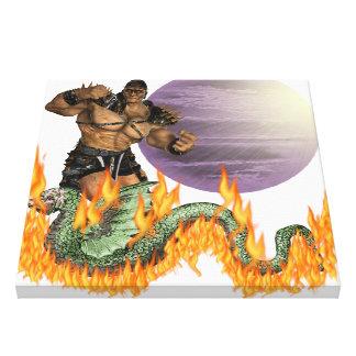 "Dragon Fighter 24 24"" Canvas Print"